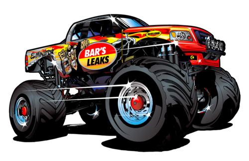 Illustration: The Bar's Leaks Eliminator Monster Truck  